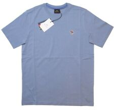 Paul Smith Mens Zebra Badge Regular Fit Short Sleeve Tee T-Shirt in Sky Blue