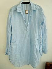 CP Shades linen stripe Teton pocket Dress/Tunic L