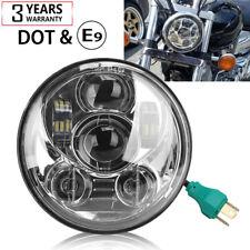 """5 3/4"""" 5.75 Round LED Headlight For Motor Sportster XL 883 1200 48 72 2004-2019"""