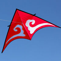 RED Free shipping 2m Auspicious clouds Triangle single line kite as a blessed