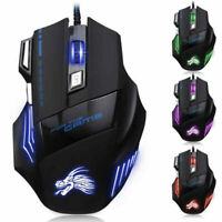 5500Dpi Led Optical Usb Wired Gaming Mouse 7 Buttons Gamer Laptop Computer Mice'