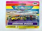 MICRO MACHINES GIG 1998 AVVENTURE SPAGGIA BEACH ADVENTURE FORD WOODY + FIGURES