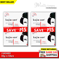 Original Kojie San Skin Lightening Kojic Acid Soap 65g x 4