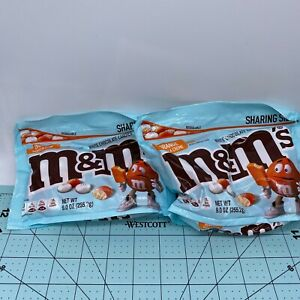 TWO 9oz Bags M&M's Orange Vanilla Creme White Chocolate Candies 12/2021
