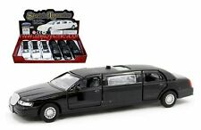"DISPLAY STRETCH LIMOUSINE 6.6"" Diecast Car Box Set of 6 White And Black Color"