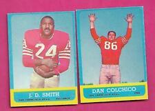 1963 TOPPS SAN FRANCISCO 49ERS EX-MT CARD LOT  (INV# C4506)