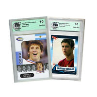 Lionel Messi 2006 Showcase Prospects Cristiano Ronaldo Rookie Review Card PGI 10