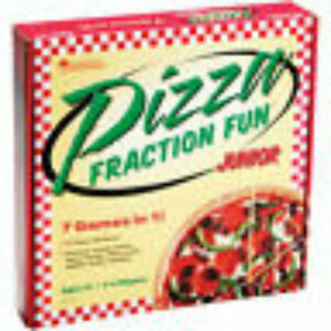 Learning Resources LER 5061 Pizza Fraction Fun Junior Game 7 in 1 games
