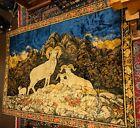 """Bighorn Sheep Velvet Velour Tapestry Wall Hanging 68"""" x 48"""""""