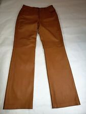 Copper Key Tan Brown Genuine Authentic Leather Pants Size  7