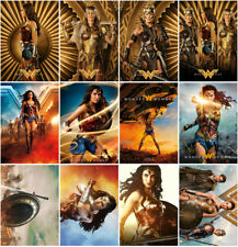 12pc Wonder Woman Movie 2017 Mirror Surface Postcard Promo Card Poster Card H08