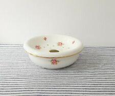 Vintage Soap Dish Ceramic Laura Ashley Floral Rose Shabby Chic Design