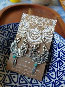 'Fleetwood Festival' Earrings Turquoise Feather GypsyLee Jewels