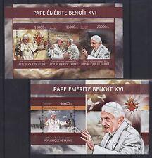 Guinea 2013 - Papst Benedikt + Franziskus - Pape Benoît + François Pope Benedict