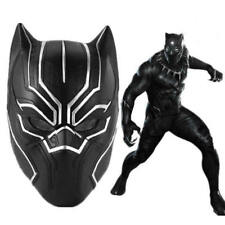 Adult Mens Marvel 3D Black Panther Mask Avengers Cosplay Roleplay Helmet Latex