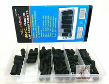 "80pc Carburetor and Vacuum Rubber Cap Assortment Kit 5/32"" - 3/8"" for AutoRepair"