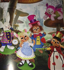 """Set 5 Alice in Wonderland 6"""" Poseable Figures Annalee Series NEW-Limited Release"""