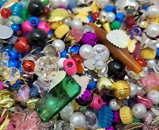 Jackpot Treasure Lot Assorted VTG Beads, Charms, & Findings for Beading Crafts
