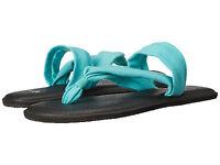 Women Sanuk Yoga Triangle Flip Flop Sandal SWS11050 Turquoise 100% Authentic New