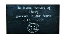 Personalised Engraved Slate Pet Memorial Grave Marker Headstone Plaque Hamster