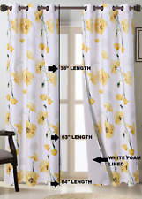 HOME DECOR SMALL PANEL GROMMET LINED WINDOW DRESSING FLORAL PRINTED CURTAIN