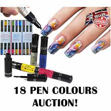 18 Nail Art Craft Pens Set Varnish Polish Decorate Design Nails Supreme AUCTION