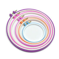 5pc/set Cross Stitch Ring Circle Frame DIY Needle Craft Household Sewing Tool