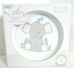 Baby Ganz 5-Pc Toddler Melamine Dish Set Baby Gift New Box Emerson Elephant J
