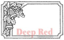 Deep Red Stamps Jingle Bells Tag Rubber Cling Stamp