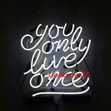 You Only Live Once YOLO REAL GLASS  BEER BAR NEON LIGHT WALL SIGN Acrylic Board