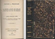 Histoire du Pèlerinage de Sainte Anne d'Auray par Maximilien Nicol.Morbihan