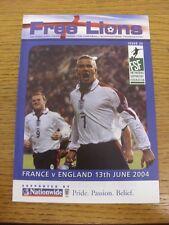 13/06/2004 England Free Lions Fanzine: Euro 2004 - France v England [In Lisbon]