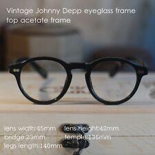 Retro Vintage round eyeglass frame Johnny Depp Eyeglasses Black optical eyewear