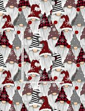 Gnomes Christmas Holiday Fabric - C8223 - Timeless Treasures - BTY