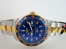 Invicta Swiss Made Pro Diver GMT Watch Blue Gold Two Tone Wristwatch 25826