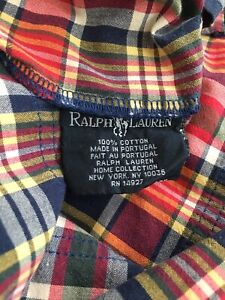 Vintage Pair Of Ralph Lauren Kennebunkport Pillow Case Standard  Plaid