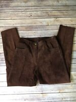 Brandon Thomas Womens Brown Leather Pants Size 11 Motorcycle Riding Biker