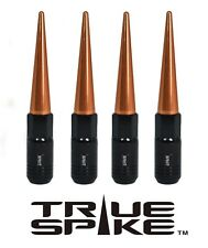16 TRUE SPIKE 121MM 12X1.5 STEEL TUNER LUG NUTS W/ ROSE GOLD EXTENDED SPIKES B