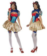 Sexy Snow White Style Princess Fever Womens Fancy Dress Costume 8-10