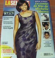LA SEMAINE MICHELLE OBAMA ON COVER  FEBRUARY 2009 SPECIAL 10 PAGES
