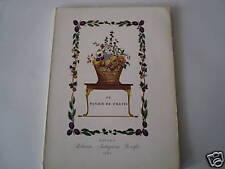 """LE PANIER DE FRUITS """" ed.ANTIQUARIA HOEPLI 1960 """" RACCOLTA DI OPERE ARTISTICHE"""