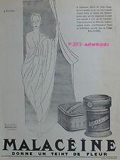 PUBLICITE MALACEINE PARFUMERIE MONPELAS SIGNE G. BOURDIER DE 1926 FRENCH AD RARE