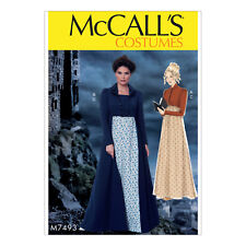 McCall/'s 7763 Sewing Pattern to MAKE Renaissance Costume Overdress /& Skirt