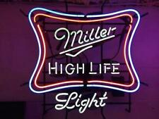 "New Miller High Life Light Neon Light Sign 24""x20"" Lamp Poster Real Glass"