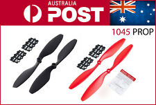 2 pairs 4 x 1045 Props 10x4.5 Propellers Multirotor 4pcs CW CCW (red + black)