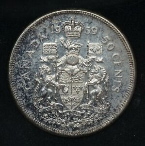 Canada 1959 - Silver Half Dollar - $0.50 -  (20292)