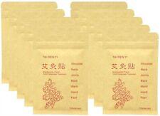 (100 片)Moxibustion Patch 纯自然冷敷治疗 Moxa 贴纸脚垫,中国传统粘贴,适用于颈部、肩部、背部、腰部、手部、脚部、关节