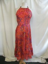 Ladies Dress Ralph Lauren size 6, red/pink/purple paisley, 100% silk, lined 0260
