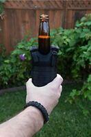 Military Tactical Mini Vest Soda Beer Bottle Coozie Coolie Koozie - Black