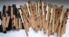 Set of salvaged vintage 61 piano keys, ebony, synthetic